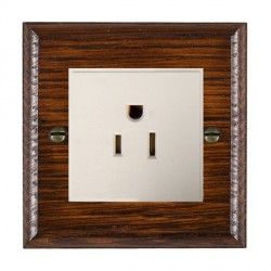 Hamilton Woods Ovolo Antique Mahogany 1 Gang 15A 127V American Unswitched Socket with White Insert