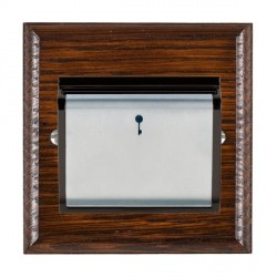 Hamilton Woods Ovolo Antique Mahogany 1 Gang On/Off 10A Hotel Card Switch with Black Insert