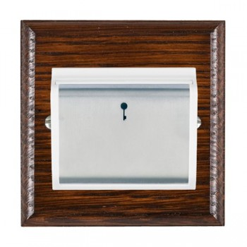 Hamilton Woods Ovolo Antique Mahogany 1 Gang On/Off 10A Hotel Card Switch with White Insert