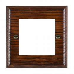 Hamilton Woods Ovolo Antique Mahogany Single Plate with 50x50mm EuroFix Aperture