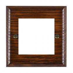 Hamilton Woods Ovolo Antique Mahogany Single Plate with 50x50mm EuroFix Aperture