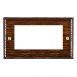 Hamilton Woods Ovolo Antique Mahogany Double Plate with 50x50mm EuroFix Aperture