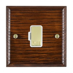 Hamilton Woods Ovolo Antique Mahogany 1 Gang 13A Fuse Only with White Insert