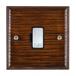 Hamilton Woods Ovolo Antique Mahogany 1 Gang 13A Fuse Only with Black Insert