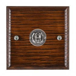 Hamilton Woods Ovolo Antique Mahogany 1 Gang 2 Way Toggle with Bright Chrome Insert