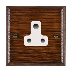 Hamilton Woods Ovolo Antique Mahogany 1 Gang 5A Unswitched Socket with White Insert