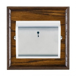 Hamilton Woods Ovolo Dark Oak 1 Gang On/Off 10A Hotel Card Switch with White Insert