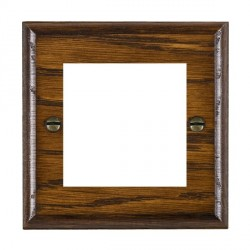 Hamilton Woods Ovolo Dark Oak Single Plate with 50x50mm EuroFix Aperture