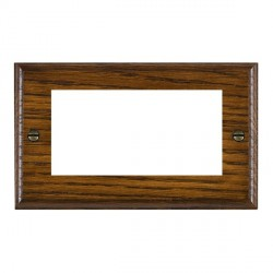 Hamilton Woods Ovolo Dark Oak Double Plate with 50x50mm EuroFix Aperture
