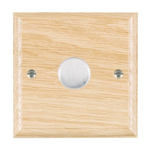 Woods Ovolo Light Oak 1 Gang 2 way Dimmer