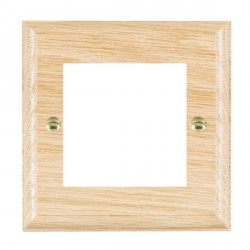 Hamilton Woods Ovolo Light Oak Single Plate with 50x50mm EuroFix Aperture