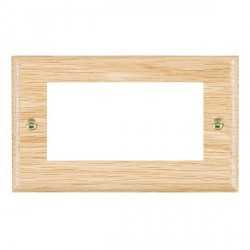 Hamilton Woods Ovolo Light Oak Double Plate with 50x50mm EuroFix Aperture