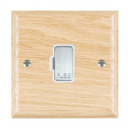 Hamilton Woods Ovolo Light Oak 1 Gang 13A Fuse Only with White Insert