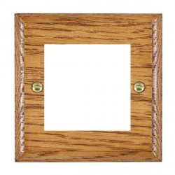 Hamilton Woods Ovolo Medium Oak Single Plate with 50x50mm EuroFix Aperture