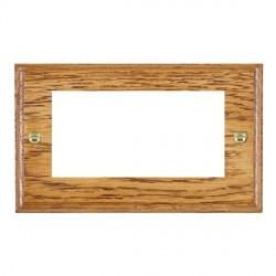 Hamilton Woods Ovolo Medium Oak Double Plate with 50x50mm EuroFix Aperture