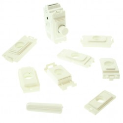 Zano Controls White 500W Push Dimmer Module