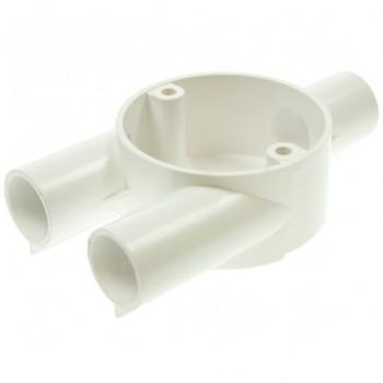 Univolt White 25mm PVC Branch Box