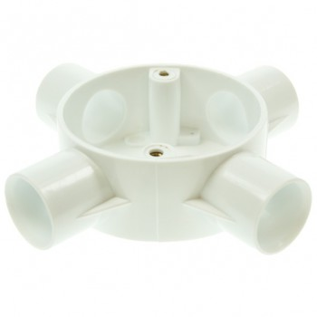 Univolt White 25mm PVC Conduit Box