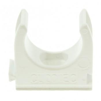 Univolt White 25mm PVC Clip