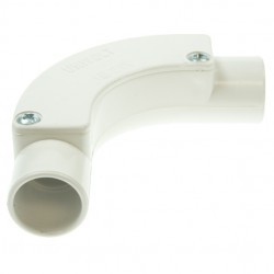 Univolt White 25mm PVC Inspection Bend