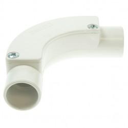 Univolt White 25mm PVC Inspection Bend
