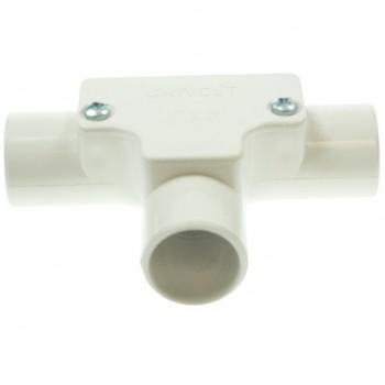 Univolt White 25mm PVC Inspection Tee