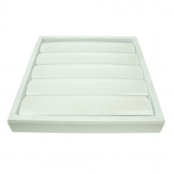 Silavent White 6 Inch Wall Gravity Grille