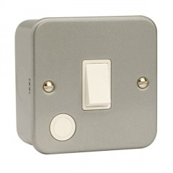 Click Metal Clad 20 Amp 1 Gang Double Pole Switch with Optional Flex Outlet