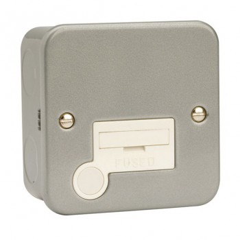 Click Metal Clad 13 Amp Unswitched Fused Connection Unit