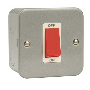 Click Metal Clad 45Amp Double Pole Single Plate Cooker Switch