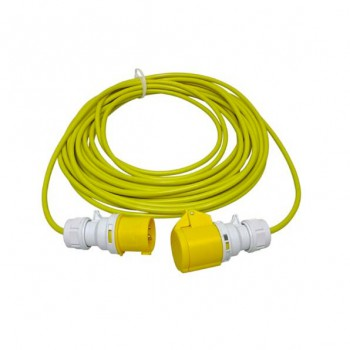 CED 14 Metre 16Amp 110V Cable 2.5mm Arctic Yellow