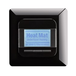 Heat Mat 16amp 3600W Programmable Underfloor Heating Thermostat - Gloss Black