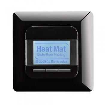 Heat Mat 16amp 3600W Programmable Underfloor Heating Thermostat - Gloss Black
