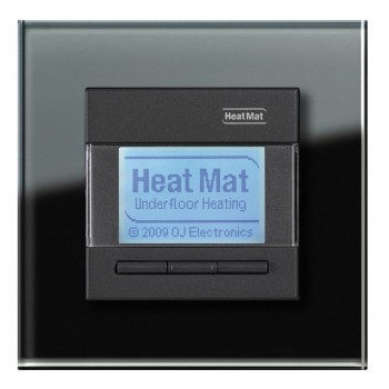 Heat Mat 16amp 3600W Programmable Underfloor Heating Thermostat - Black with Black Glass Surround