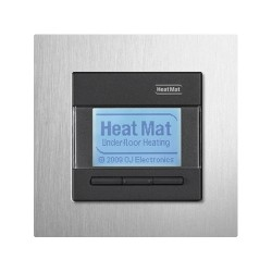 Heat Mat 16amp 3600W Programmable Underfloor Heating Thermostat - Black with Aluminium Surround