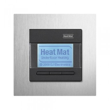 Heat Mat 16amp 3600W Programmable Underfloor Heating Thermostat - Black with Aluminium Surround