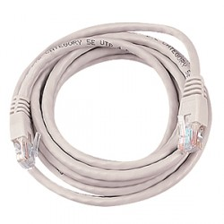 Assynia Booted Cat 5E 6 Metre UTP Patch Lead Grey Only
