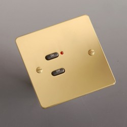Rako Controls Wall Switch Cover 2 Gang Polished Brass
