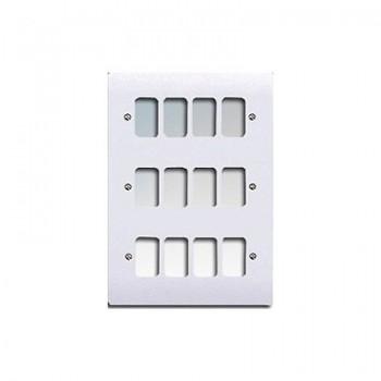 MK Electric Logic Plus™ White 12 Module Grid Plate