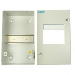 Hager 4 Module Sheet Steel Enclosure