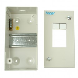Hager 2 Module Sheet Steel Enclosure