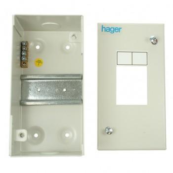 Hager 2 Module Sheet Steel Enclosure