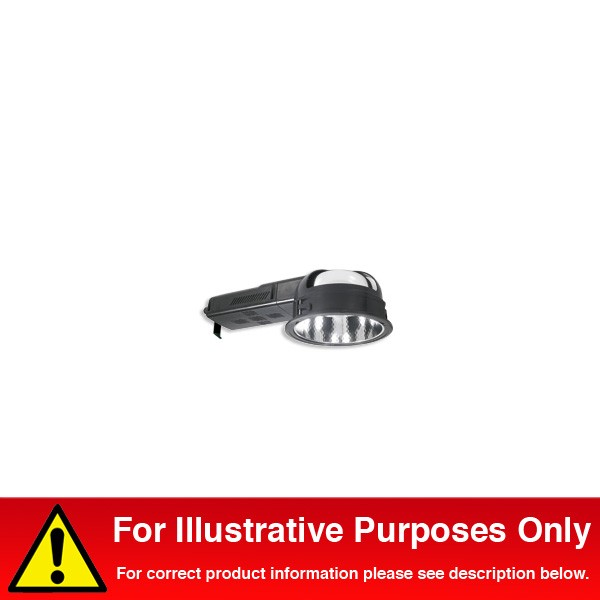 designer fashion 07331 a9d88 Aurora Lighting PL-T Polycarbonate Fixed Recessed 2 x 42W Energy Saving  Compact Fluorescent Downlight Black