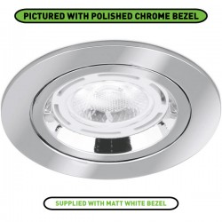 Aurora Lighting 50W Fixed GU10 Matt White Aluminium Lock Ring Downlight