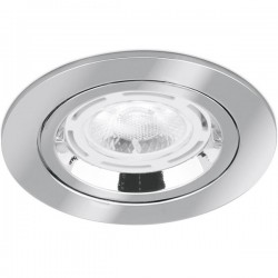 Aurora Lighting 50W Fixed GU10 Polished Chrome Aluminium Lock Ring Downlight