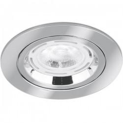 Aurora Lighting 50W Fixed GU10 Polished Chrome Aluminium Lock Ring Downlight