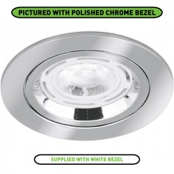 Aurora Lighting 50W Fixed GU10 White Aluminium Lock Ring Downlight