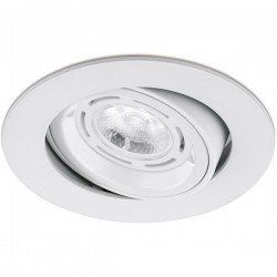 Aurora Lighting 50W Adjustable GU10 Matt White Aluminium Lock Ring Downlight
