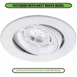 Aurora Lighting 50W Adjustable GU10 Polished Chrome Aluminium Lock Ring Downlight