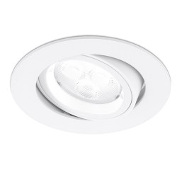 Aurora Lighting 50W Adjustable GU10 White Aluminium Lock Ring Downlight